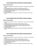 Mixed-Up Files of Mrs. Basil E. Frankweiler Questions Ch. 1