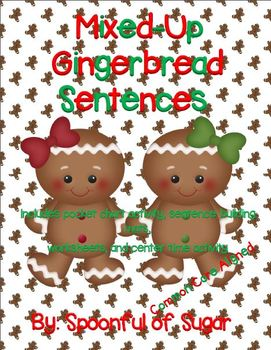 Mixed-Up Gingerbread Sentences (A Sentence Building/Writing Unit)