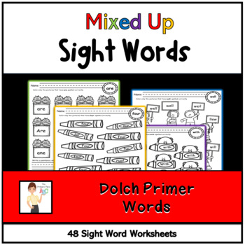 Mixed Up Kindergarten Treasures Sight Words Printables