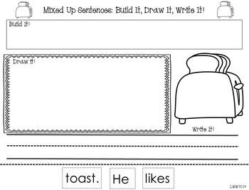 NO PREP! Mixed Up Sentences! Long Vowels