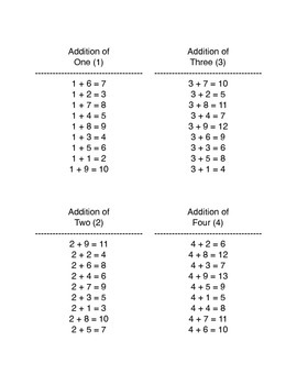 Mixed Up Math Booklet: Addition Facts with 1-9