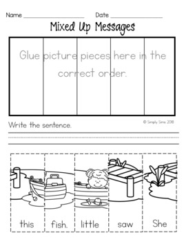 Sight Words: Mixed Up Messages
