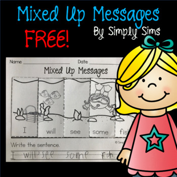 Free Download! Sight Words: Mixed Up Messages