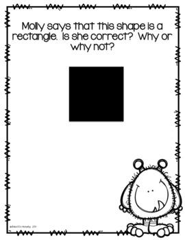 Math Journal Prompts--Kindergarten--Mixed Up Molly