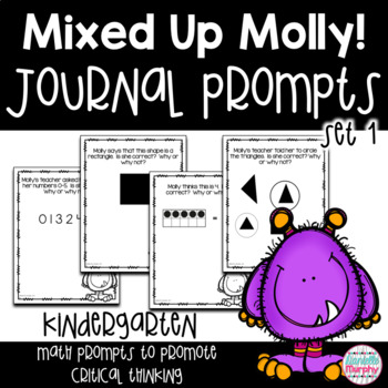 Kindergarten Critical Thinking Math Journal Prompts
