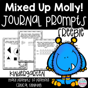 Kindergarten Critical Thinking Math Journal Prompts FREE Sample
