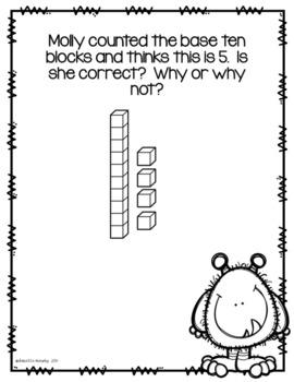 Math Journal Prompts Part 2--Kindergarten--Critical Thinking
