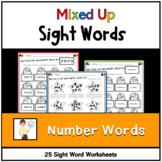 Mixed Up Number Words Printables