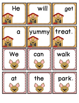 Mixed-Up Puppy Sentence Unscramble!
