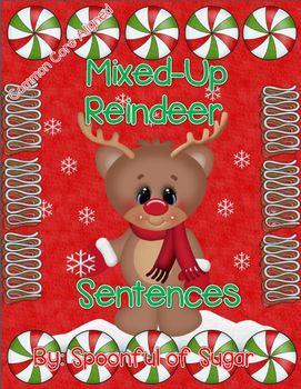 Mixed-Up Reindeer Sentences (A Holiday Sentence/Writing Unit)