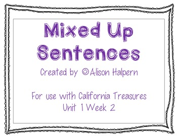 Mixed Up Sentences