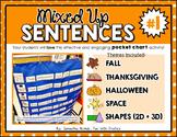 Mixed Up Sentences #1: a pocket chart literacy centre activity