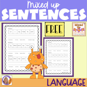 Freebie! Mixed Up Sentences