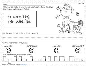 Mixed Up Sentences - Spring Edition