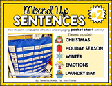 Mixed Up Sentences #2: a pocket chart literacy centre activity