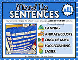 Mixed Up Sentences #4: a pocket chart literacy centre activity