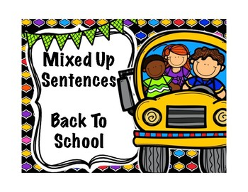 Mixed Up Sentences Back To School