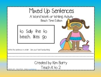 Mixed Up Sentences - Beach Time Edition