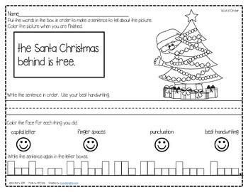 Mixed Up Sentences- Christmas Edition