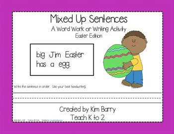 Mixed Up Sentences - Easter Edition
