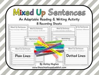 FREE Mixed Up Sentences {A Hughes Design}