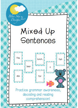 Mixed Up Sentences Freebie