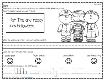 Mixed Up Sentences - Halloween Edition