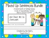Mixed Up Sentences - Holiday/Seasonal Bundle 12 Sets