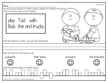 Mixed Up Sentences - Kids at Play Edition