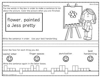 Mixed Up Sentences - School Kids Edition