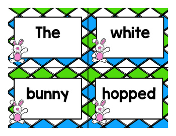 Mixed Up Sentences:  Spring Edition