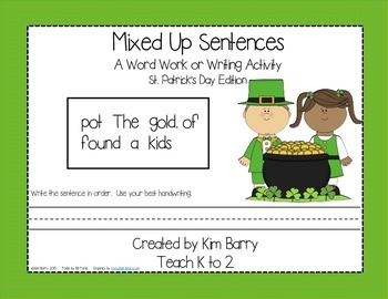 Mixed Up Sentences - St. Patrick's Day Edition