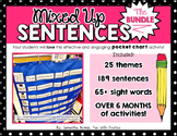 Mixed Up Sentences THE BUNDLE: a pocket chart literacy centre activity