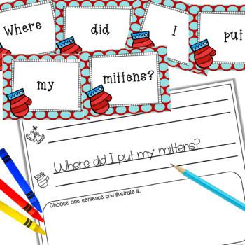 Mixed-Up Sentences:  Winter Edition