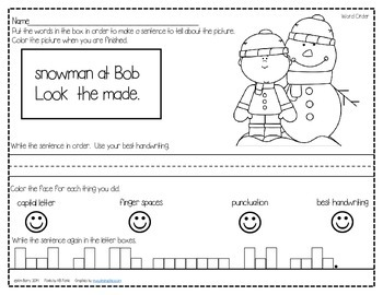 Mixed Up Sentences - Winter Fun Edition