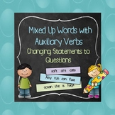Mixed Up Sentences to Questions with Auxiliary Verbs:Is, A