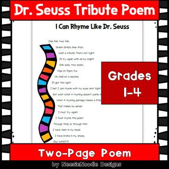"""I Can Rhyme Like Dr. Seuss"" Poem"