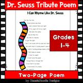 """I Can Rhyme Like Dr. Seuss"" Poem Poetry Read Across America"