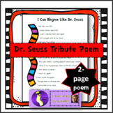 """I Can Rhyme Like Dr. Seuss"" Poem Poetry, Read Across America, Tribute"