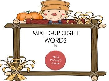 Mixed Up Sight Words