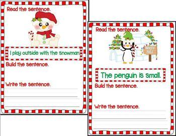 Mixed-Up Winter Sentences Bundle (Snowman and Penguin Units)