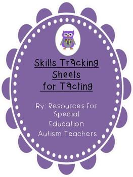 Mixed VB Box - Skills Tracking Sheets - Tacting - Autism / ABA