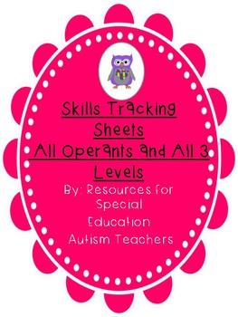 Bundle - Mixed VB Box - Skills Tracking Sheets - All Operants - Autism / ABA