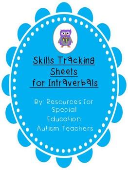 Mixed VB Box - Skills Tracking Sheets - Intraverbal - Autism / ABA