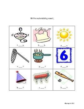 Mixed Vowel Activities - Short Vowels