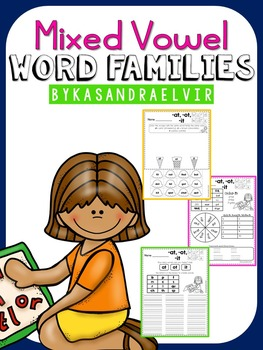 Mixed Vowel Word Families Word Work