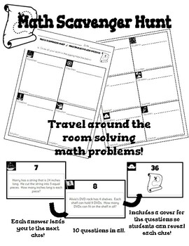 Mixed Word Problems SCAVENGER HUNT