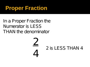 Mixed and Improper Fractions Power Point