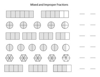 Mixed and Improper Fractions Set