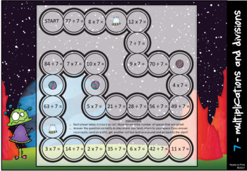 Mixed multiplication and division game boards